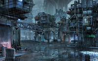 Cyberpunk slums of the future wallpaper 2560x1600 jpg