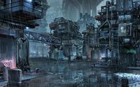 Cyberpunk slums of the future wallpaper 2560x1600 jpg