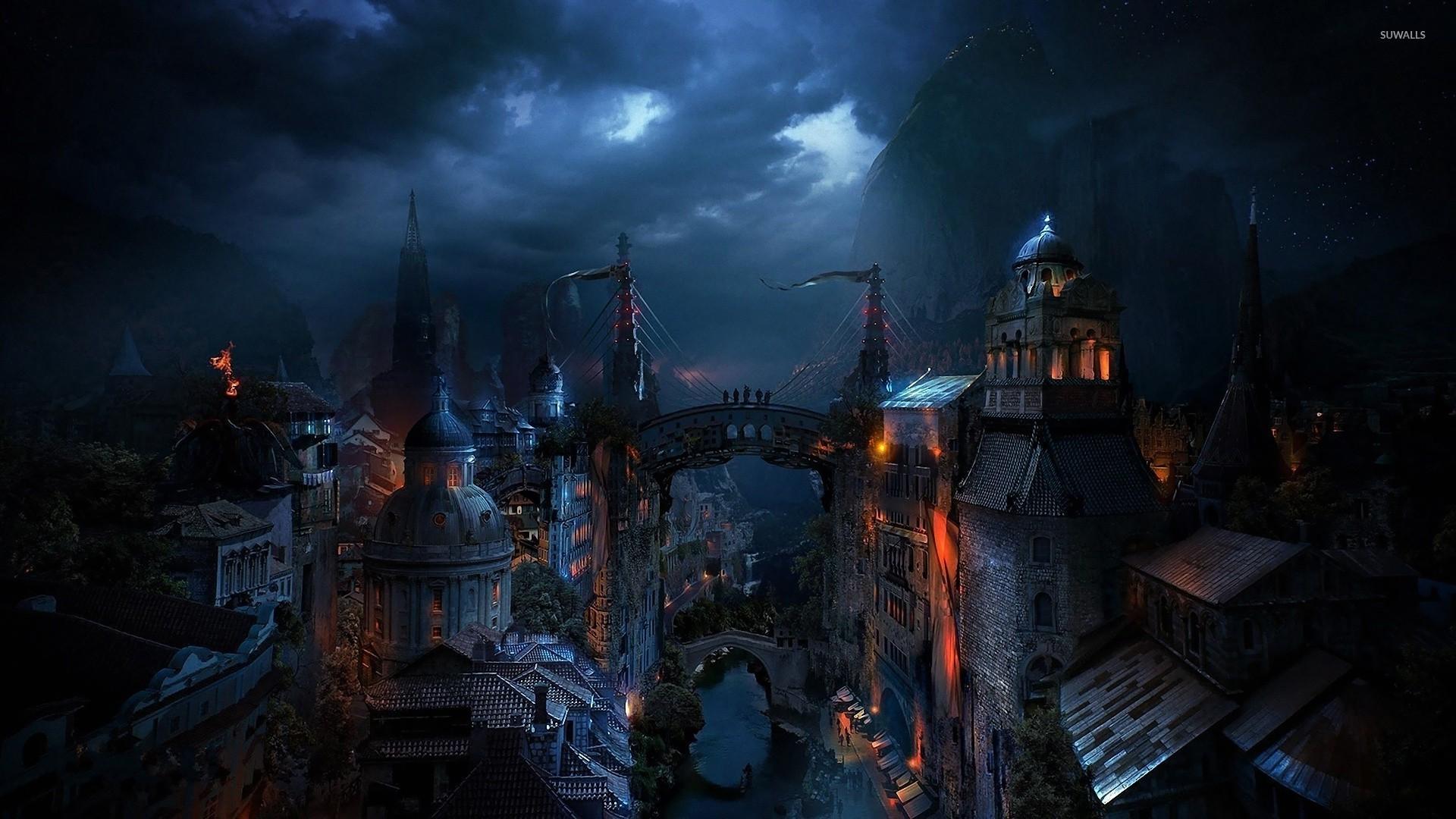 Dark City Wallpaper 1920x1080 Jpg