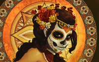 Day of the dead mask wallpaper 1920x1080 jpg