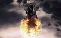Death on a fire ball wallpaper 1920x1080 jpg