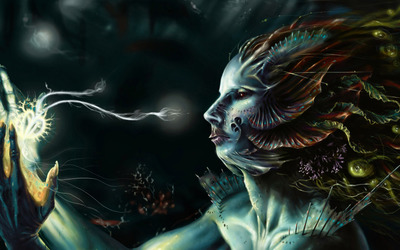 Deep Sea Woman wallpaper