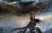 Dinosaur against spaceship wallpaper 1920x1080 jpg