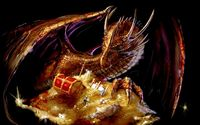 Dragon guarding the treasure wallpaper 1920x1200 jpg