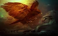 Eagle and cobra wallpaper 1920x1200 jpg