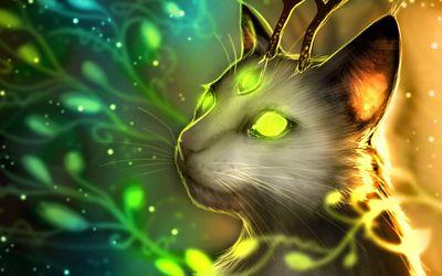 Eerie cat creature Wallpaper
