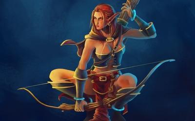 Elf archer wallpaper