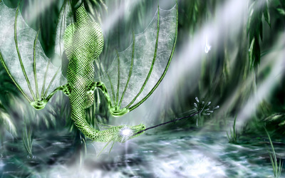Emerald dragon wallpaper