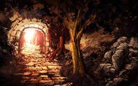Entrace in the glowing mine wallpaper 1920x1080 jpg
