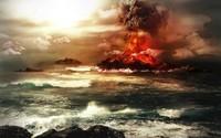 Erupting volcano wallpaper 1920x1200 jpg