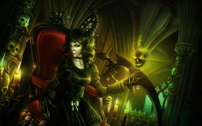 Evil witch wallpaper