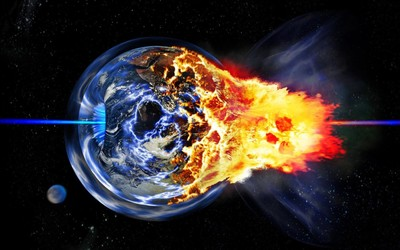 Exploding Earth wallpaper