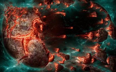 Exploding planet [6] wallpaper