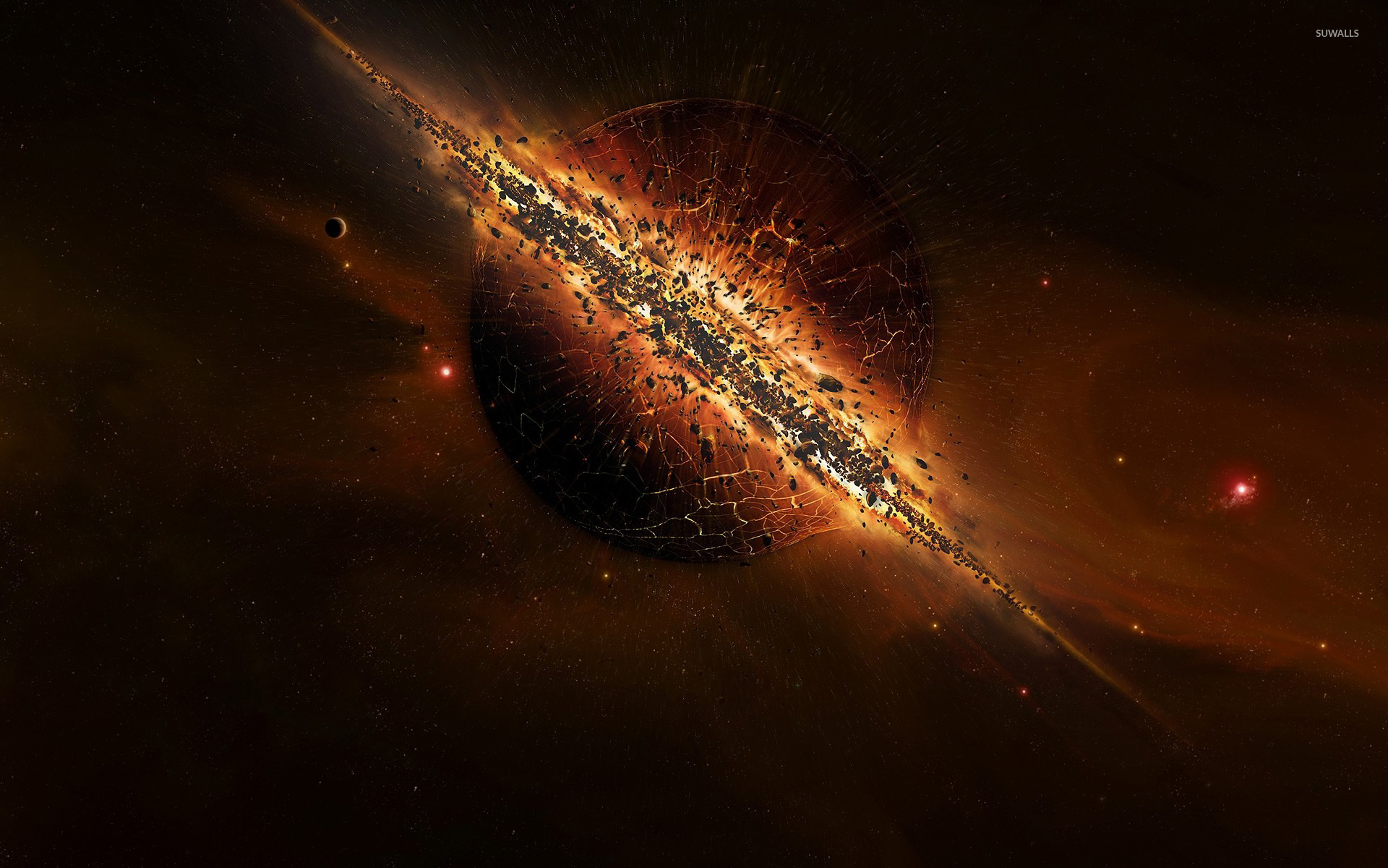 Image result for fantasy planet exploding
