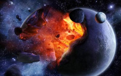 Exploding planet [4] wallpaper