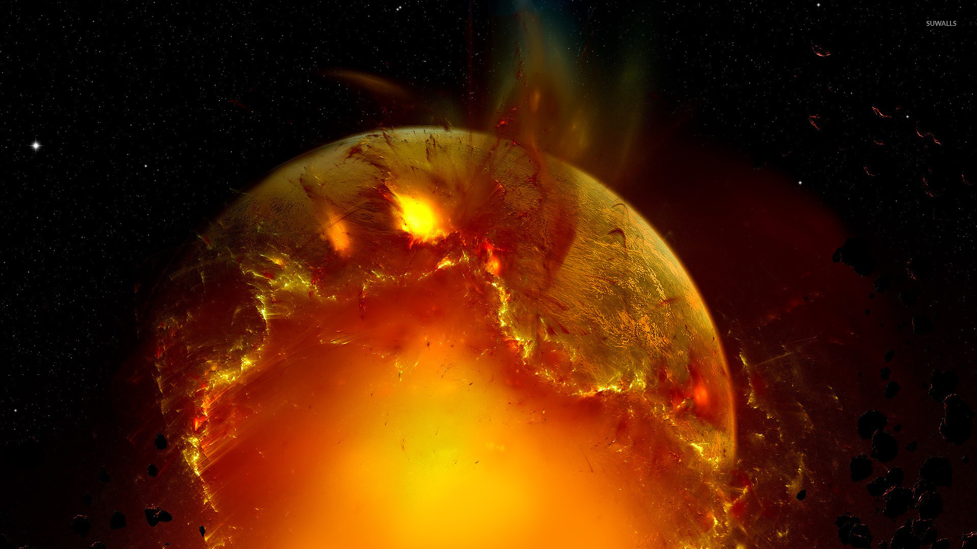 Exploding planet [11] wallpaper - Fantasy wallpapers - #20938