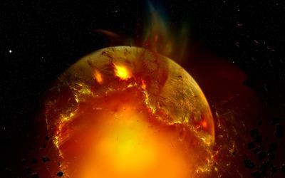 Exploding planet [11] wallpaper