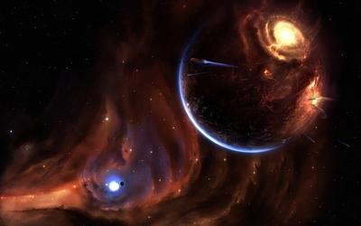 Exploding planet [3] wallpaper