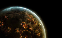 Explosions on the planet wallpaper 1920x1200 jpg