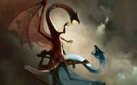 Fire and ice dragon in battle [2] wallpaper 1920x1200 jpg