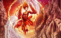 Fire and water fairy wallpaper 2560x1600 jpg