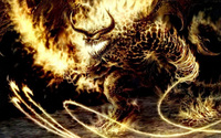 Fire Monster wallpaper 1920x1200 jpg