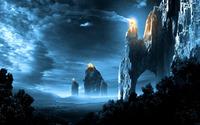 Fires on cliffs wallpaper 2560x1600 jpg