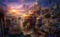 Floating city [2] wallpaper 1920x1080 jpg