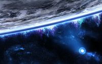 Flux lights around the planet wallpaper 1920x1200 jpg