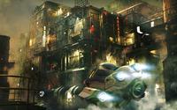Flying car in the city wallpaper 2880x1800 jpg