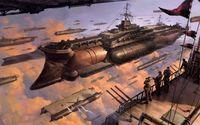 Flying military vessels wallpaper 1920x1200 jpg