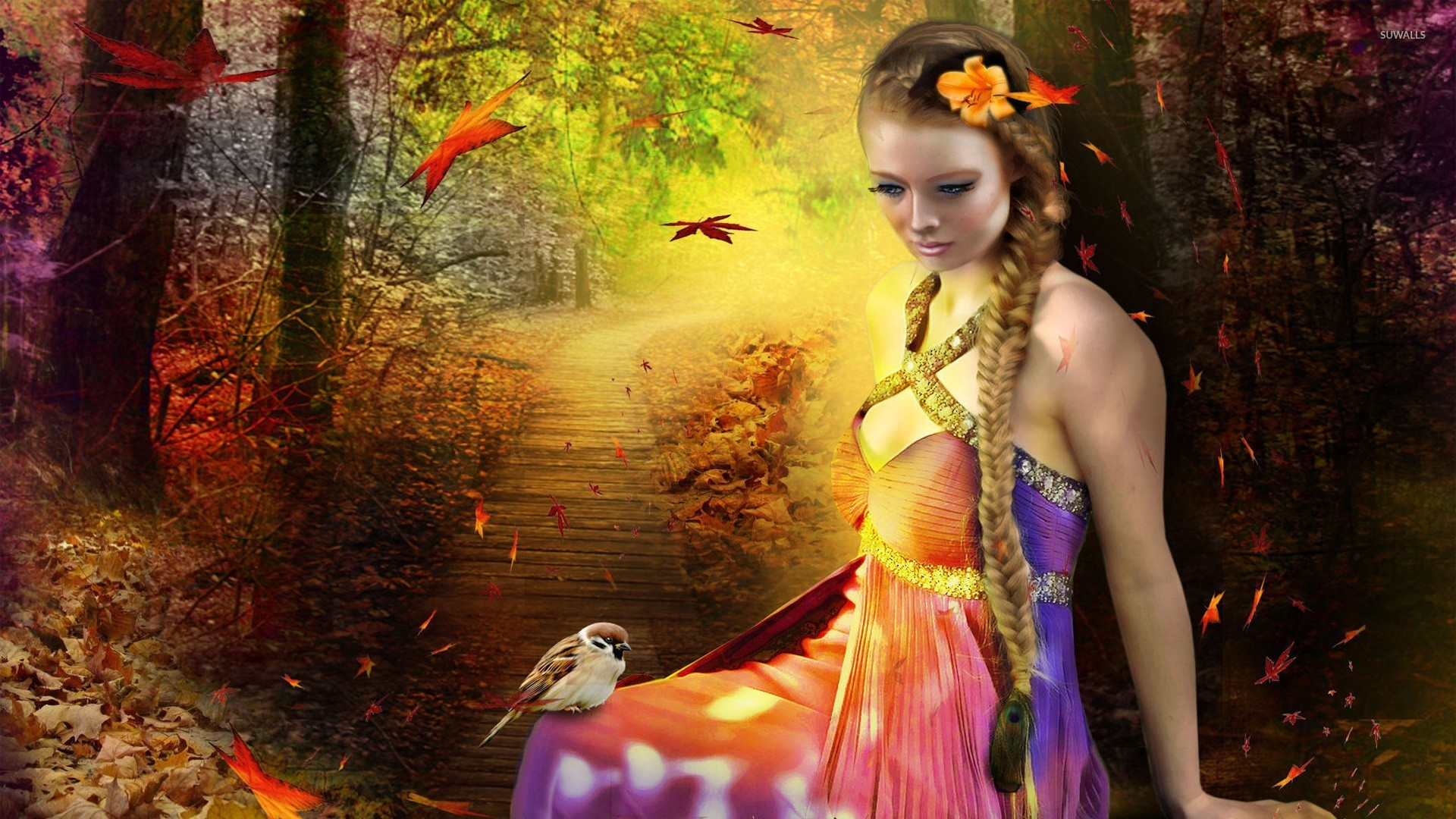 Forest Fairy Wallpaper 1029644