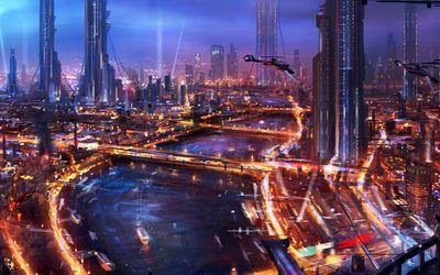 Futuristic architecture wallpaper
