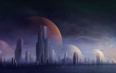 Futuristic city [4] wallpaper