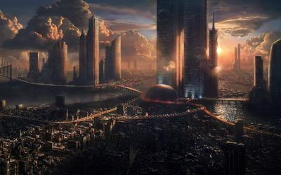 Futuristic City [3] wallpaper