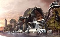 Futuristic city [6] wallpaper 2560x1600 jpg