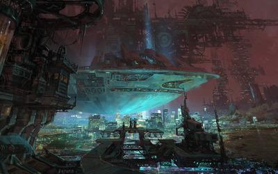 Futuristic city [10] wallpaper