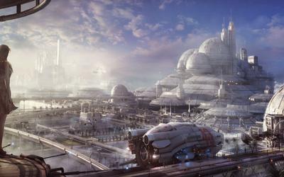 Futuristic city [8] Wallpaper