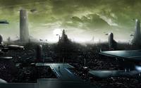 Futuristic metropolis wallpaper 1920x1080 jpg