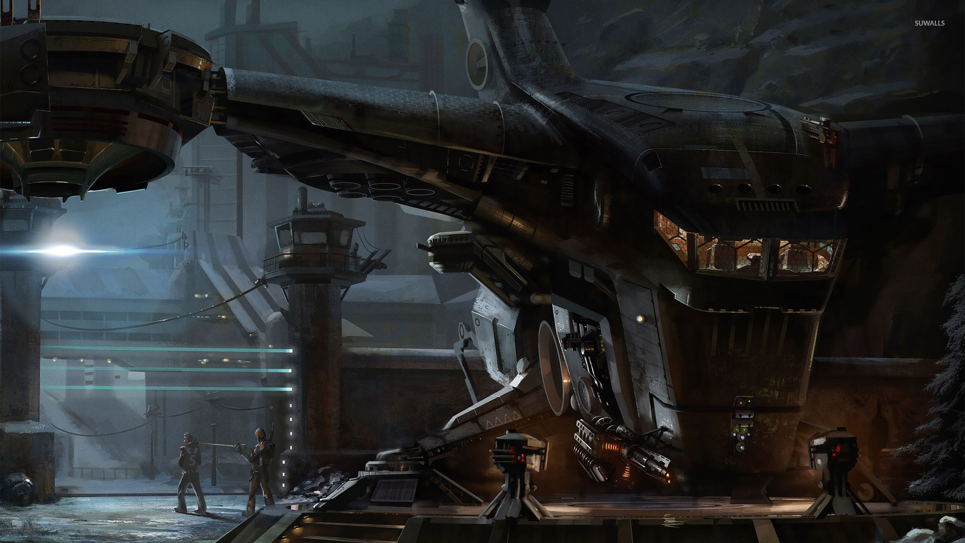 Futuristic space station wallpaper - Fantasy wallpapers ...