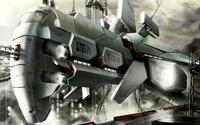 Futuristic spaceship wallpaper 2880x1800 jpg