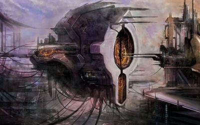 Futuristic spaceship [2] wallpaper