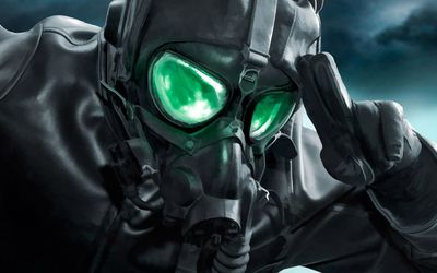 Gas masked soldier wallpaper