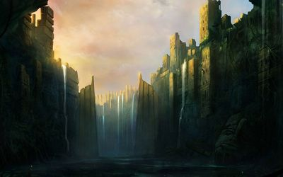 Gates of the fortress wallpaper