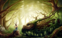 Girl and dragon [2] wallpaper 2560x1600 jpg