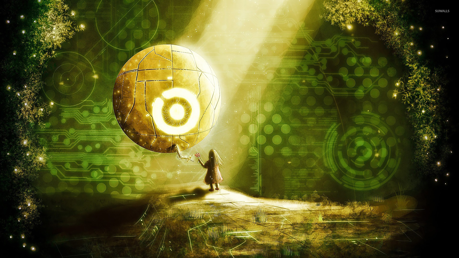 Girl and orb wallpaper - Fantasy wallpapers - #20109