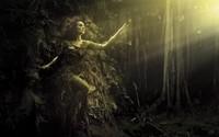 Girl in a tree wallpaper 1920x1200 jpg