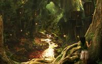 Girl in the forest wallpaper 1920x1200 jpg