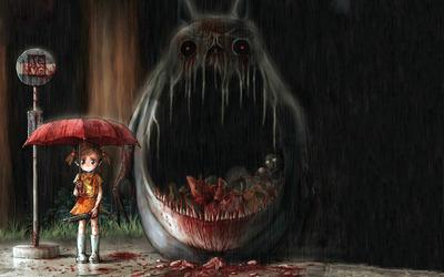 Girl & Monster wallpaper