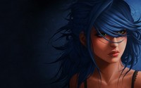 Girl with blue hair wallpaper 1920x1080 jpg